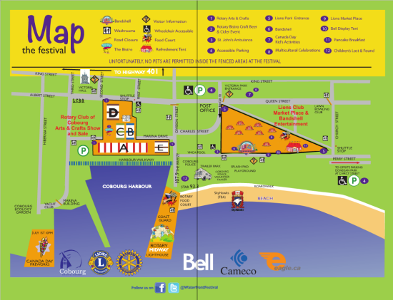 Cobourg Waterfront Festival Map